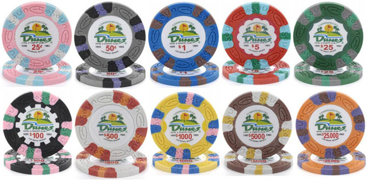 $100 dunes commemorative las vegas casino chip